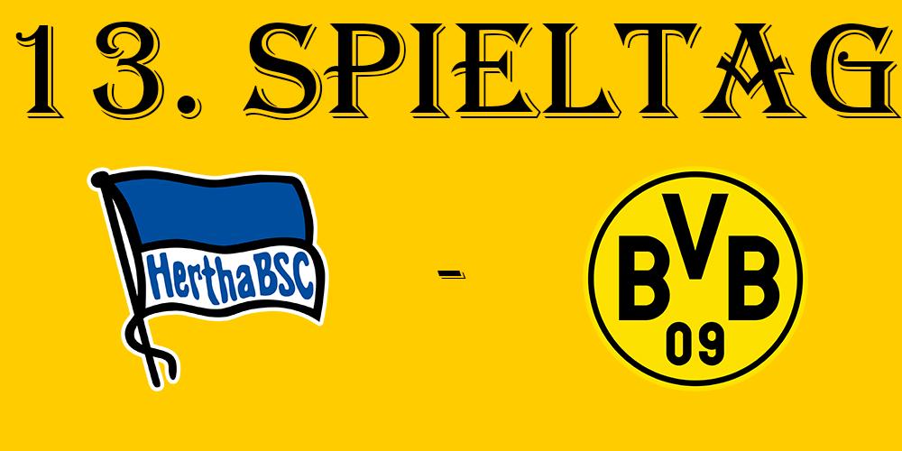 13. Spieltag: Hertha BSC - BVB