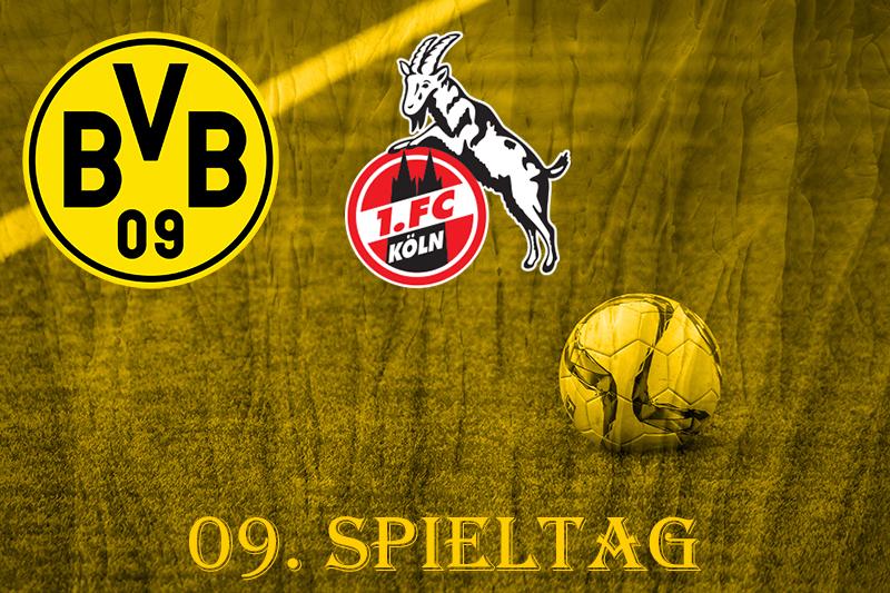 09. Spieltag: BVB - 1. FC Köln