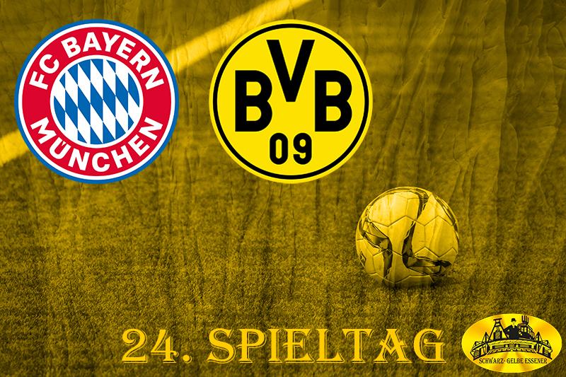 24. Spieltag: FC Bayern München - BVB