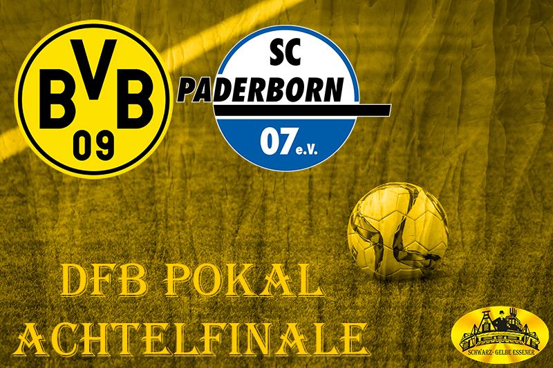 DFB Pokal Achtelfinale: BVB - SC Paderborn