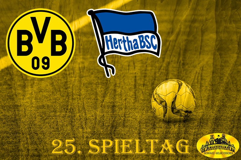 25. Spieltag: BVB - Hertha BSC Berlin