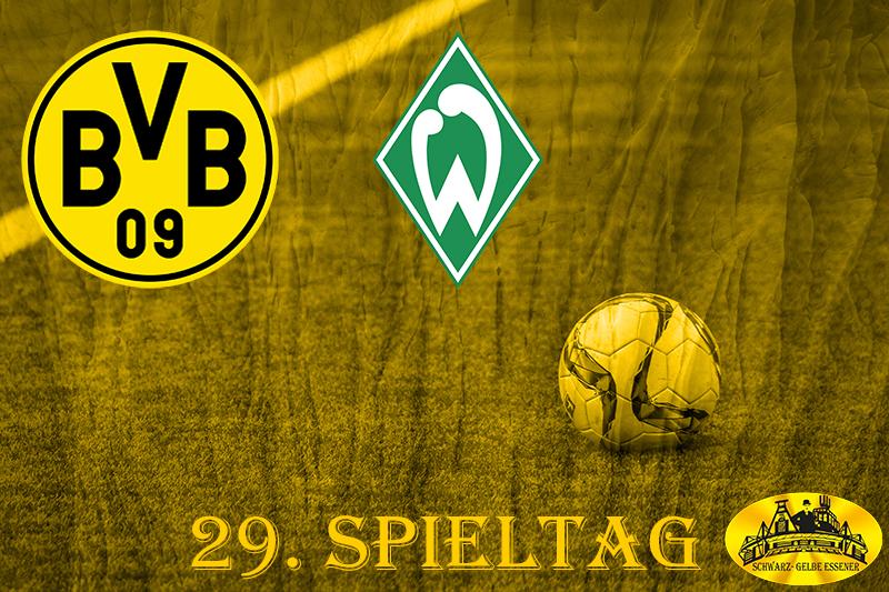 29. Spieltag: BVB - SV Werder Bremen