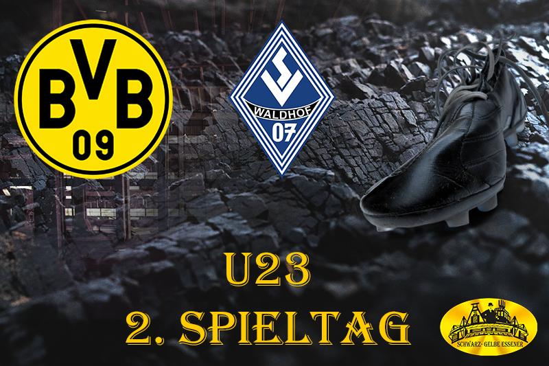 U23 - 2. Spieltag: BVB - SV Waldhof Mannheim