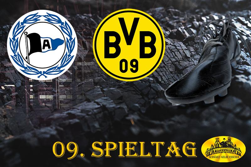 09. Spieltag: DSC Arminia Bielefeld - BVB
